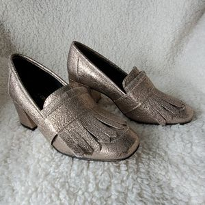 Kenneth Cole metallic heels sz6